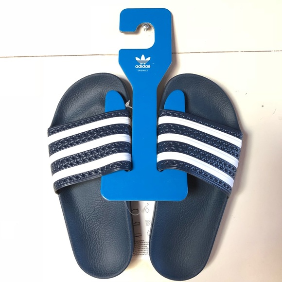 8a0d51423138bd NWT adidas originals Adilette navy pool slides